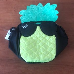 PINK pineapple fanny pack cooler